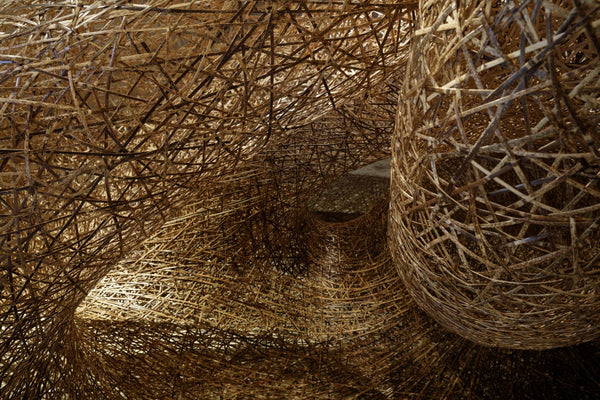 Bamboo installation at the NY Metropolitan Museum