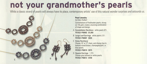 Not your grandmother's pearls, Artful Home catalog