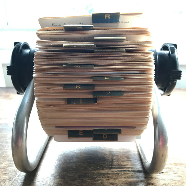 Vintage Rolodex card file