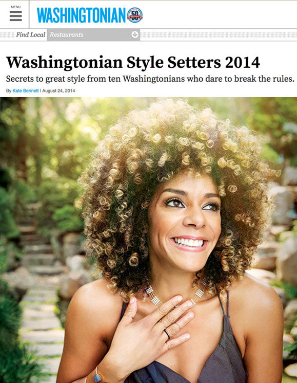 Pearl and gold necklace in Washingtonian