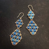 Blue Agate earrings by Estyn Hulbert