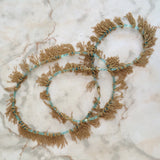 Jessica Rose Stone Fringe necklace in apatite and gold