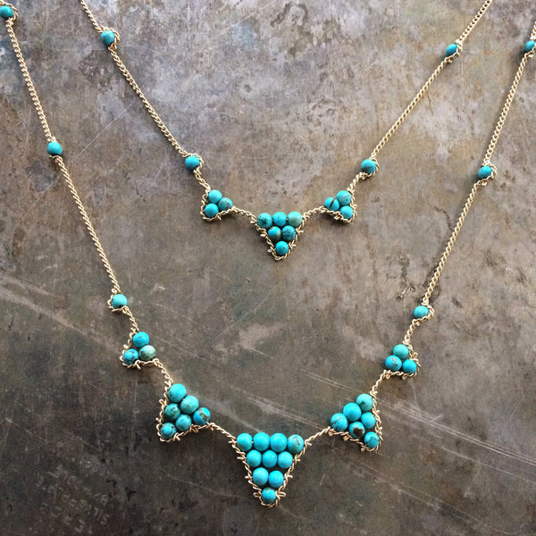 Bunting Necklace - Turquoise