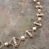 Hoard Necklace No 2 - Champagne Pearl
