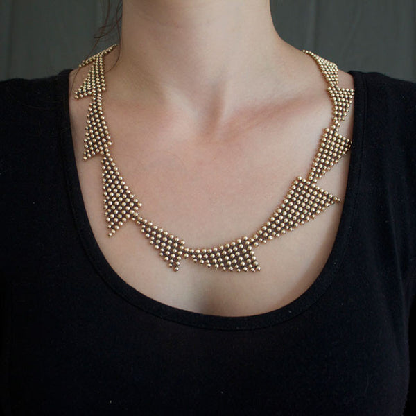 Deco Necklace - Gold-filled
