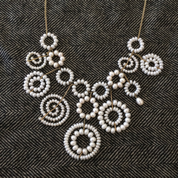 Estyn Hulbert pearl Charms necklace