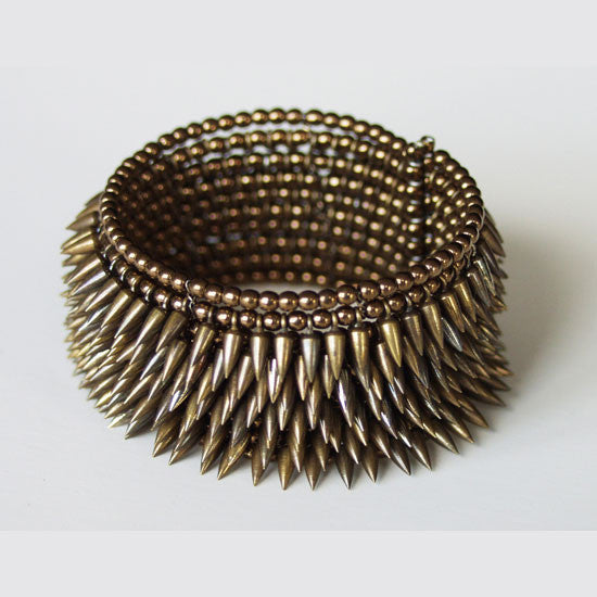 Toned 8 row bullet cuff, designed by Jessica Rose, made by Estyn Hulbert