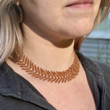Wild Geese Choker in Hessonite Garnet