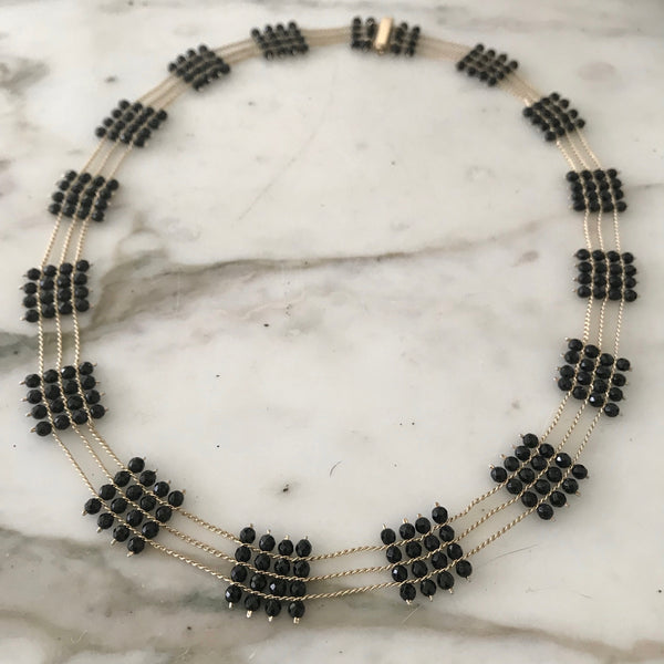 Squares Necklace - Onyx