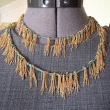 Stone Fringe necklace in apatite and gold, designed by Jessica Rose