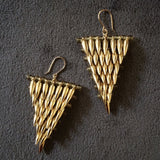 Gold Bullet Triangle Earrings designed by Jessica Rose