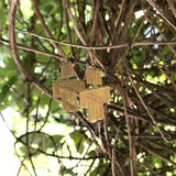 Gold-filled chain fringe little man earrings