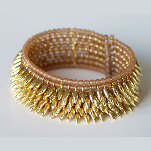 Jessica Rose 5 row gold-plated Bullet cuff