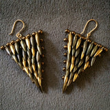 Bullet Triangle Earrings - toned