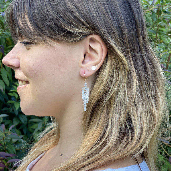 Moonstone Icicle Earrings