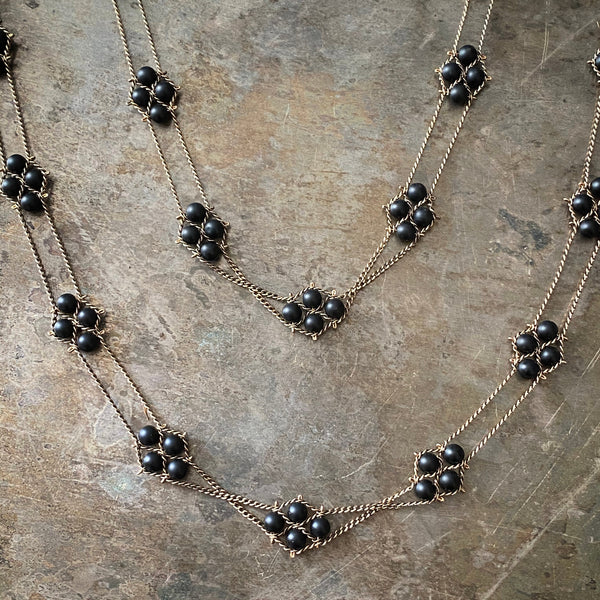 Nugget Necklace in Matte Onyx