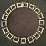 Pearl and gold Squares necklace