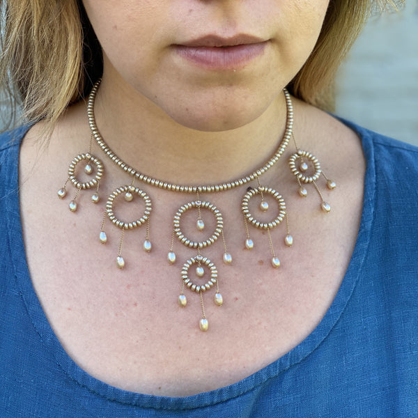 Champagne pearl Princess necklace