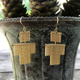Little man chain fringe earrings
