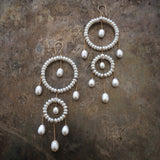 Princess earrings - white pearl