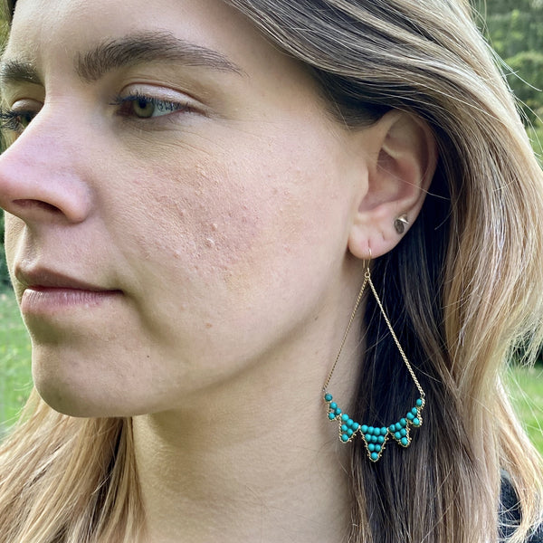 Bunting Earrings - Turquoise