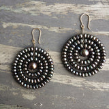 Estyn Hulbert black pearl Sun earrings