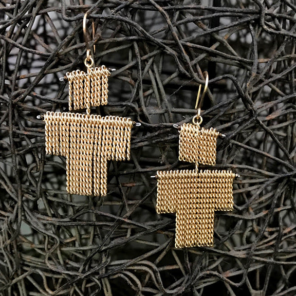 Jessica Rose Petit Bonhomme chain fringe earrings