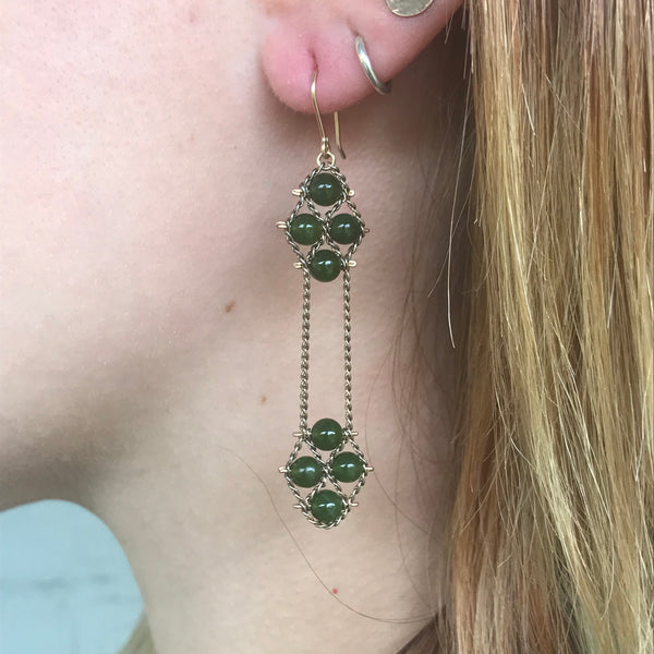 2 Nugget Earrings - Jade
