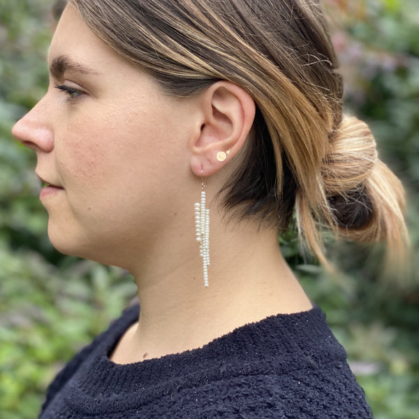 Long pearl Icicle earrings