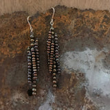 mixed brown pearl Icicle earrings