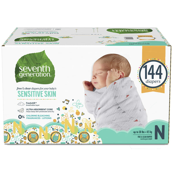 Seventh Generation Baby Diapers for Sensitive Skin Newborn
