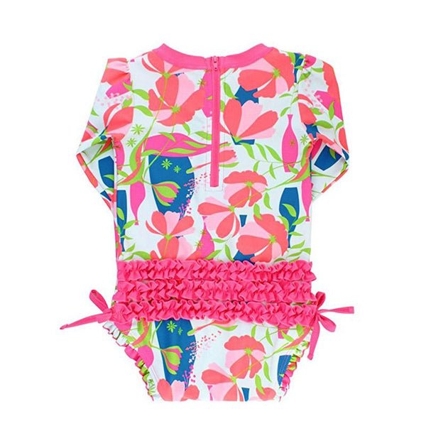 Baby Girl Swimwear | Rash Guard Jeweled Stems Girls Clothes Karina Baby Boutique