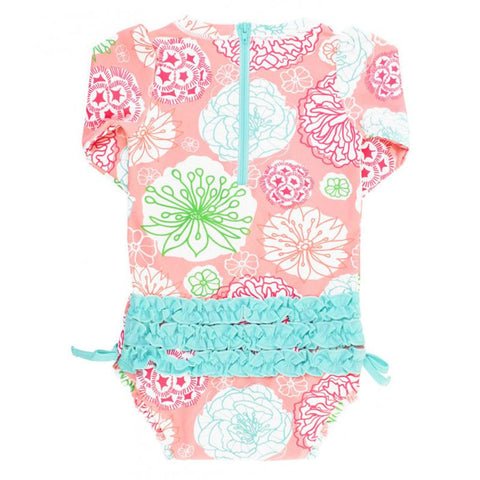 Baby Girl Swimwear | Rash Guard Tropical Garden Girls Clothes Karina Baby Boutique