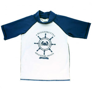 Boys Nautical Raglan Short Sleeve Rash Guard Boys Clothes Karina Baby Boutique