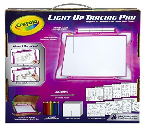 Crayola Light-up Tracing Pad Pink, Coloring Board for Kids, Gift, Toys for Girls, Ages 6, 7, 8, 9,10 Children Toys Karina Baby Boutique
