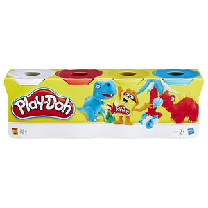 Hasbro Play-Doh pack of 4 Colors (W,R,Y,B) Children Toys Karina Baby Boutique