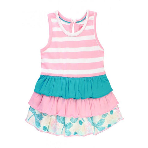 Little Girls Dancing Dragonflies Striped Tank Girls Clothes Karina Baby Boutique