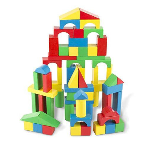 Melissa & Doug Wooden Building Blocks Set Children Toys Karina Baby Boutique