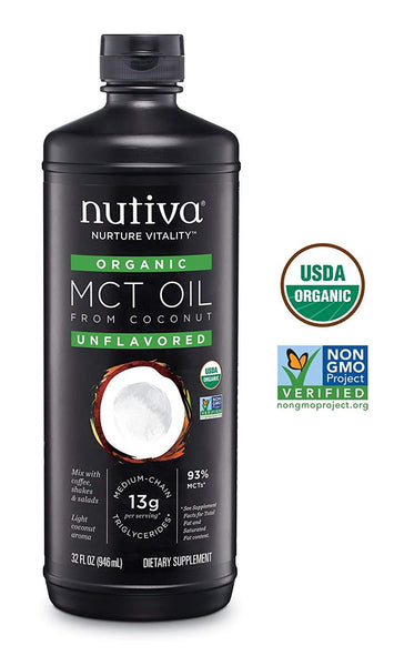 Nutiva Organic MCT Oil Organic Supplements Karina Baby Boutique