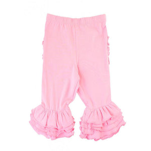 Pink Ruffle Bermuda Shorts Girls Clothes Karina Baby Boutique