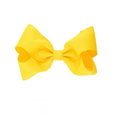 Single Bow Yellow Girls Hair Accessories Girls Clothes Karina Baby Boutique