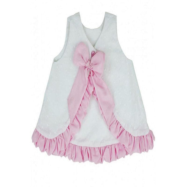 Swiss Dot Bow Back Swing Top Girls Tops Karina Baby Boutique