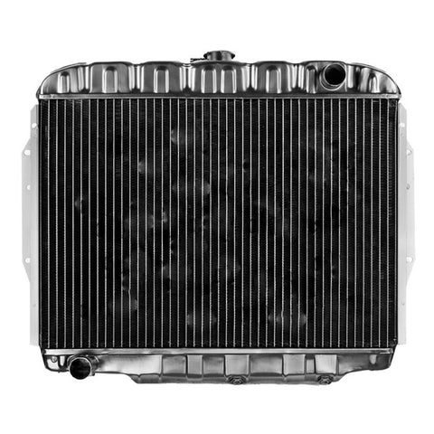 Radiator, Copper Brass, 3-Row Desert Cooler w/4-Row Capacity, OE Style Fit, 1971-76 AMC 6-Cylinder Ambassador, Gremlin, Hornet, Matador - AMC Lives