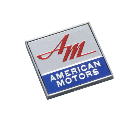 "Deck Lid Emblem, ""American Motors"", Red, Blue, Silver, 1968-early 70 AMC Cars"