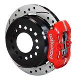 Rear Disc Brake Kit, Wilwood, Forged Dynapro Calipers w/Drilled & Slotted Rotors, 1969-1979 AMC (Two Caliper Colors)