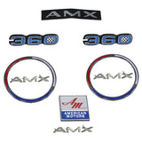 Emblem Kit, Complete Exterior, Early 1970 AMC AMX 360