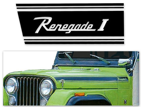 Decal and Stripe Kit, Factory Authorized Reproduction, 1970 AMC Jeep Renegade (2 Colors) - AMC Lives