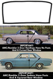 Windshield Seal With Trim Groove, 2-Door & 4-Door Hardtop, Sedan, & Wagon, 1964-69 AMC Rambler American