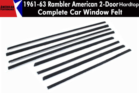Window Felt/Beltline Weatherstrip Kit, 1961-63 Rambler American, 2-Door Hardtop - AMC Lives