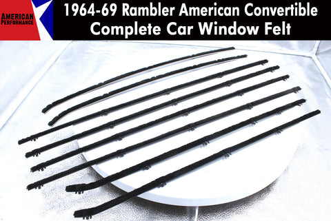 Window Felt/Beltline Weatherstrip Kit, 1964-69 Rambler American, 2-Door Convertible - AMC Lives